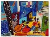 art-moderne-peinture-peintres.-jose-manuel-merello.-las-meninas-de-velazquez.-mix-media-on-wood